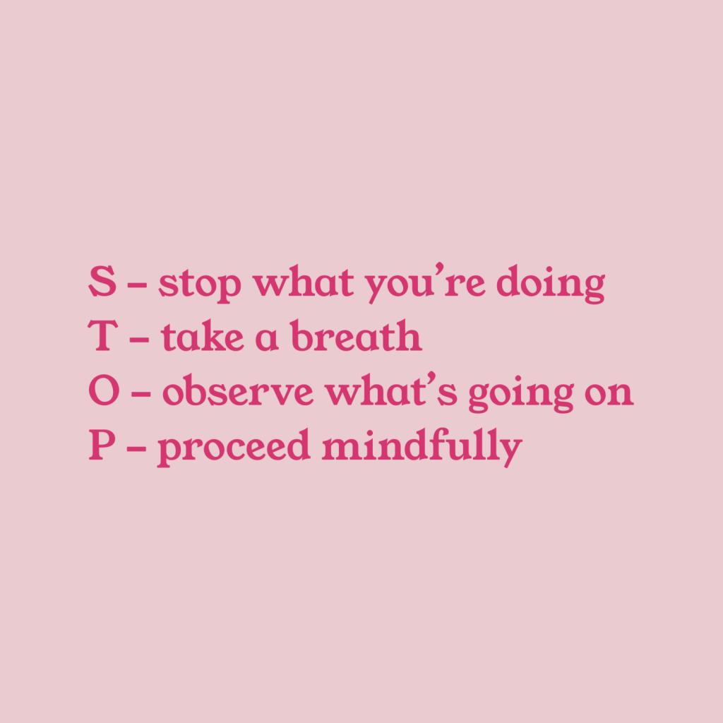 STOP practice